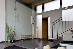 Glas-Trennwand-Eingangsbereich